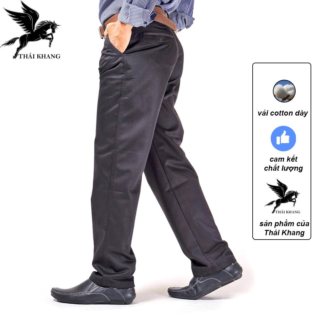 [HCM]Quần kaki nam trung niên ống suông vải cotton dày may kỹ loại quần dài kaki nam form rộng ống rộng may bởi xưởng Nhã Phương QKTNR01