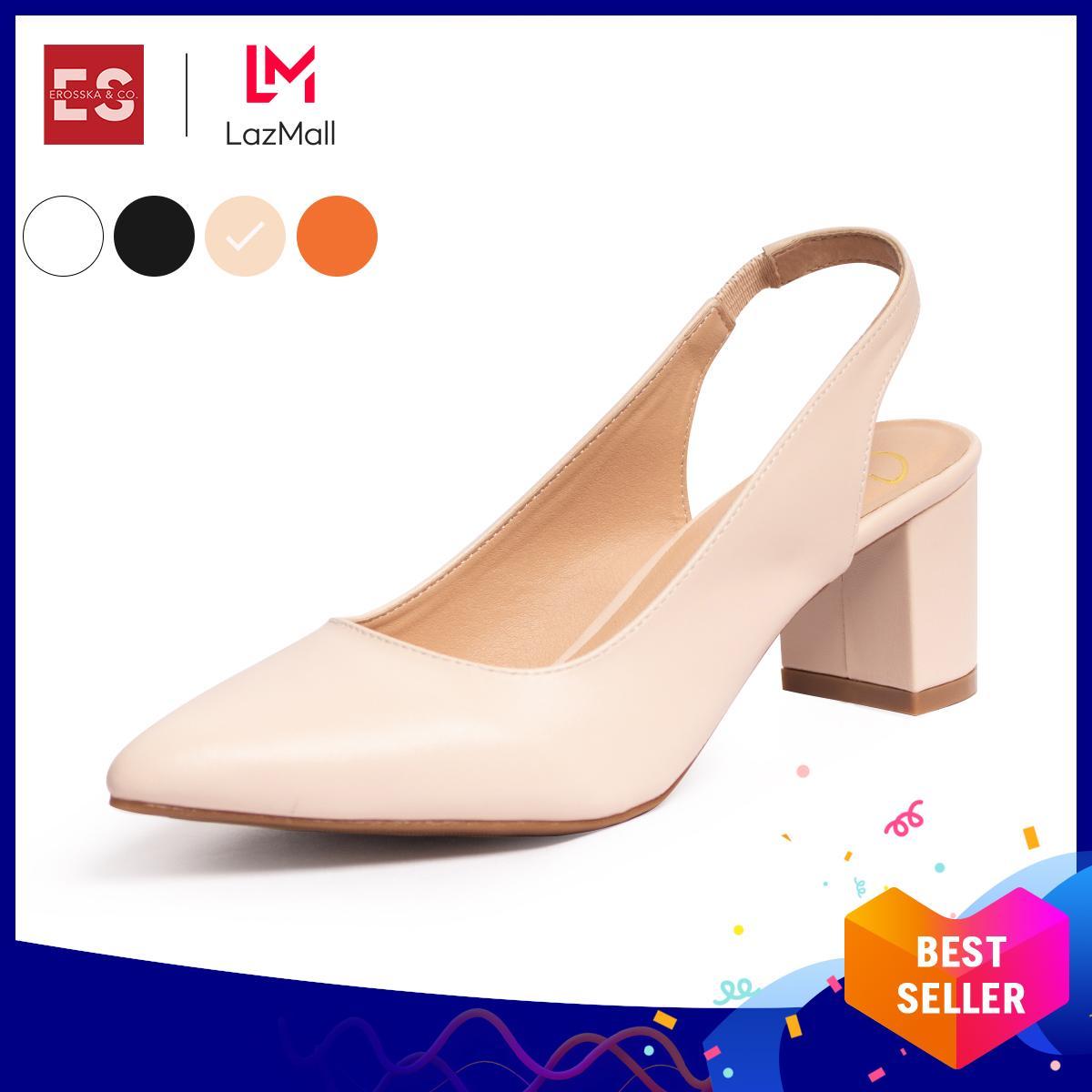 Deal Khuyến Mại Giày Nữ, Giày Cao Gót Slingback Erosska Thời Trang Nữ Kiểu Dáng Basic _ EH015 (BA)