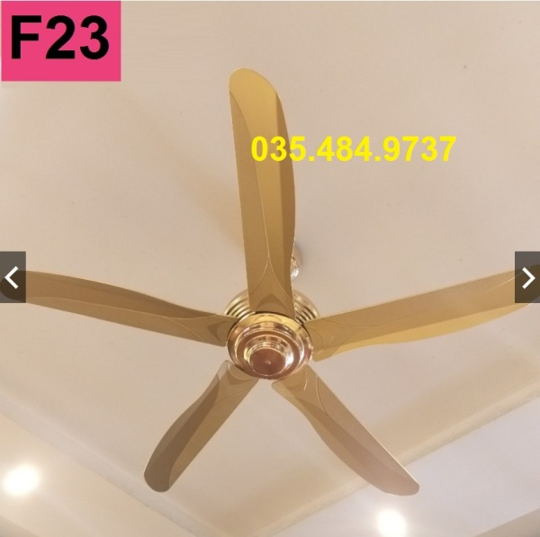 F23 [Thien Ca Shop] Quạt trần cánh thép không gỉ mạ vàng - động cơ lõi đồng 100% - Hàng Cao Cấp