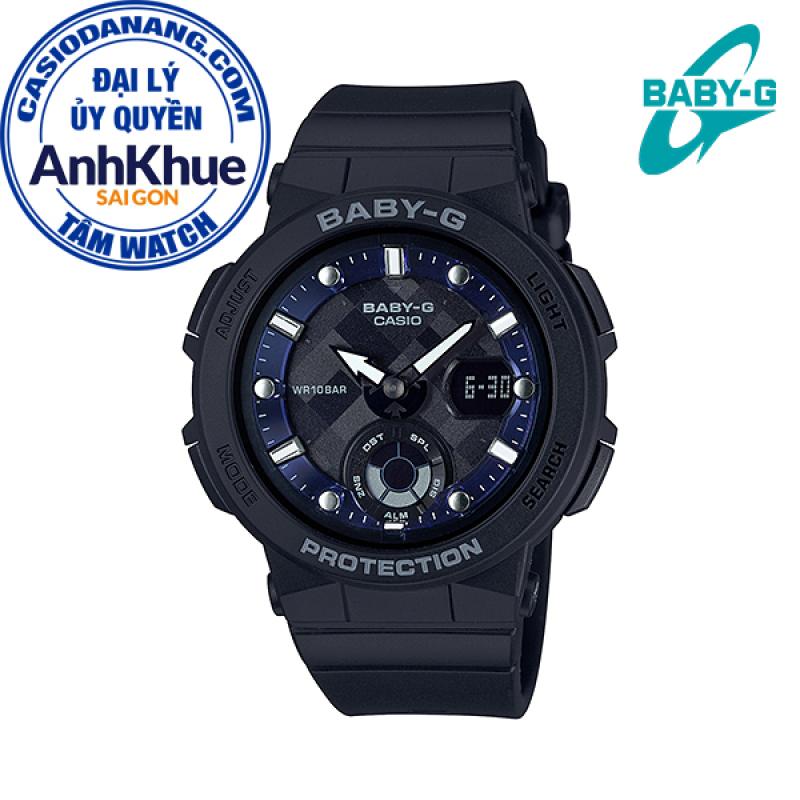 Đồng hồ nữ dây nhựa Casio Baby-G chính hãng Anh Khuê BGA-250-1ADR (41mm)