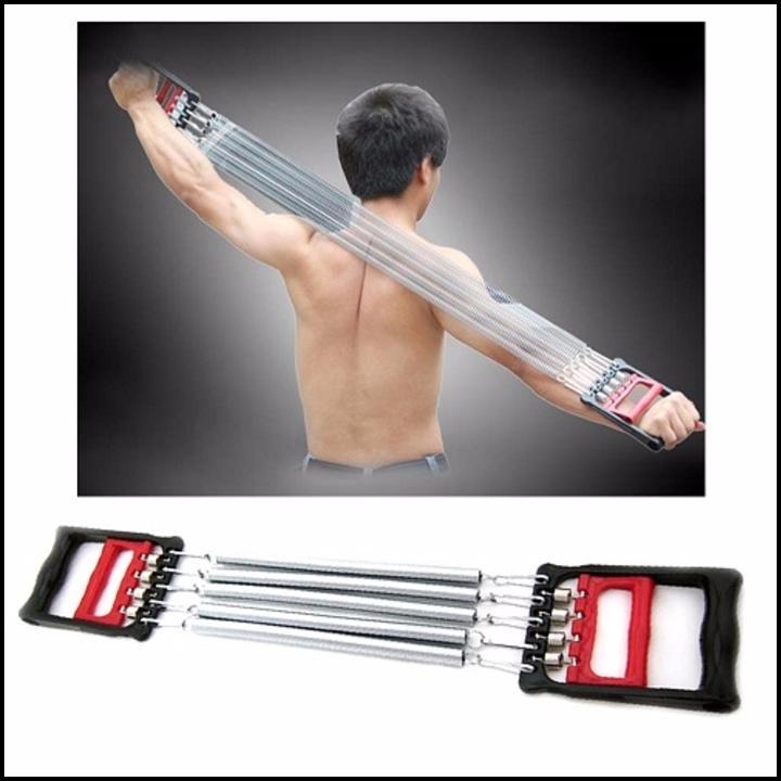 Bảng giá Dụng cụ tập gym – thể dục tại nhà – Dây kéo tay lò xo 5 sợi – Tác dụng kép cho tay ngực bụng săn chắc