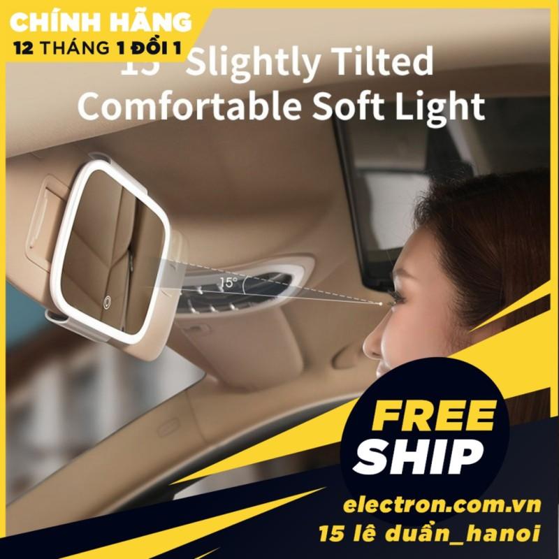 Gương trang điểm thông minh viền tích hợp đèn LED cảm ứng Baseus Delicate Queen Car Touch-up Mirror