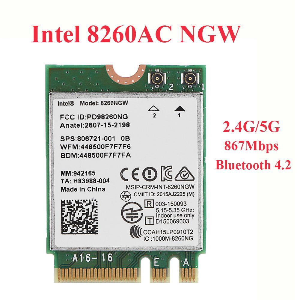 Giá Card WiFi Laptop Intel 8260 NGW chuẩn AC có Blueooth