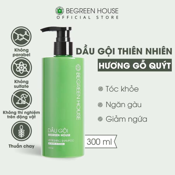 Dầu gội đầu nam Begreen House 300ml giúp thư giãn, phục hồi tóc, giảm ngứa da đầu, ngăn vảy gàu