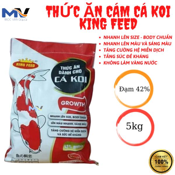THỨC ĂN CÁM CÁ KOI KING FEED 5KG 42% ĐỘ ĐẠM | CỬA HÀNG CÁ CẢNH VÀ THIẾT BỊ LỌC NƯỚC HỒ CÁ MỘC VINH AQUA