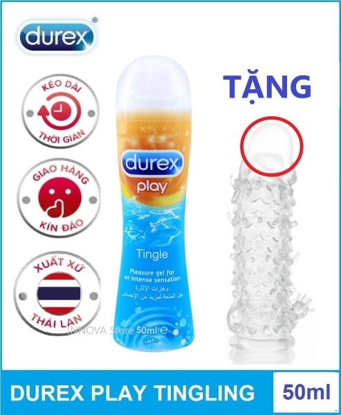 Bộ 1 gel bôi trơn thái lan tingling 50ml tặng 1 bao cao su dùng nhiều lần giá rẻ