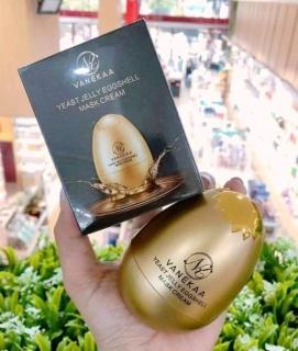 Mặt nạ quả trứng chống lão hóa xóa nhăn vanekaa yeast royal jelly egg shell mask cream thumbnail