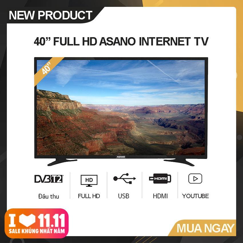 Bảng giá Internet Tivi Asano 40 inch Full HD - Model 40EK2 (Đen) Độ phân giải Full HD, Xem Youtube, Tích hợp DVB-T2 - Bảo Hành 2 Năm
