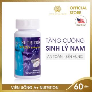 Viên Uống Tinh Chất Hàu Biển, Tăng Cường Sinh Lý An Toàn Cho Nam - A+NUTRITION MEN S ENHANCEMENT - Nature Gift USA (60 viên) thumbnail