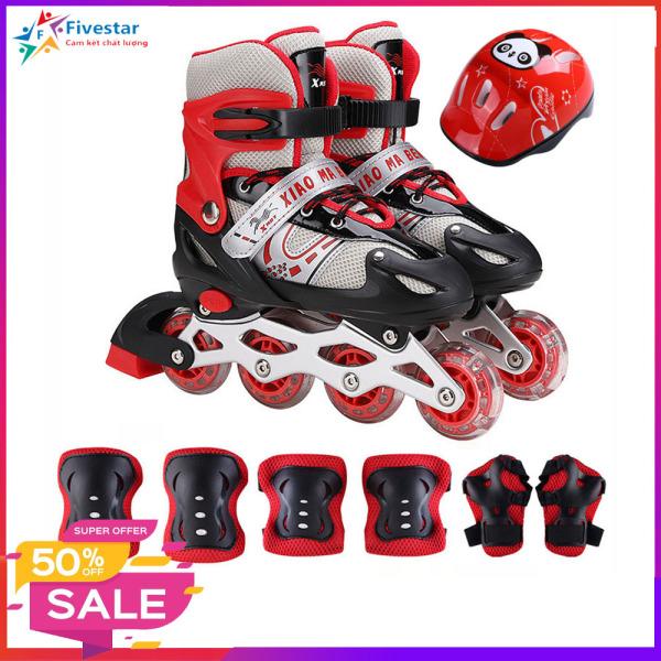 Mua Giày trượt patin, giày trượt patin trẻ em, Tặng Kèm Bộ Bảo Hộ (Mũ Bảo HIểm và Bảo Vệ Tay Chân) BH 12 tháng