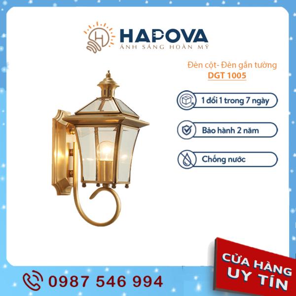 Đèn treo tường đèn treo bằng đồng gắn tường bằng Đồng nguyên chất HAPOVA DGT 1005 + Tặng kèm bóng Led Edison