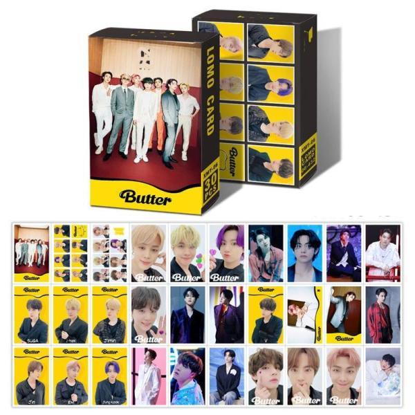 BTS Butter Lomo Nhóm Nhạc Bts Butter hộp ảnh 30 tấm kèm hộp y hình