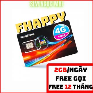 Sim 4G Vina 12FHAPPY - 12D60G - Trọn Gói 1 năm - Miễn Phí Data- Miễn Phí Gọi thumbnail