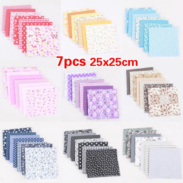 Bảng giá Blues Shop 9 Màu Scrapbook handmade Diy Bundle Patchwork Khâu Thủ công mỹ nghệ Quilting Vải cotton (Kích thước: 25x25cm) Điện máy Pico