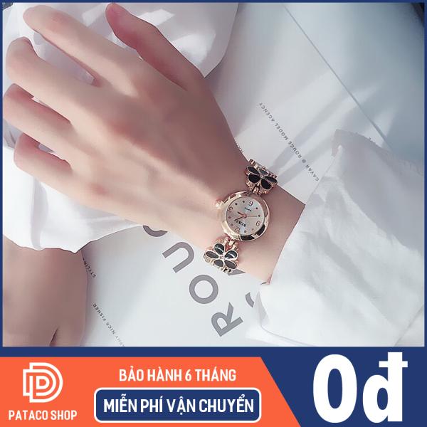 Đồng hồ nữ lắc tay thời trang B129 dây kim loại hình hoa cực sang trọng có chống nước sinh hoạt nhẹ, Bảo hành 6 tháng