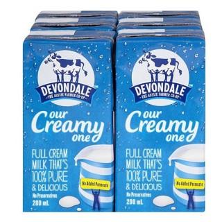 Sữa nước Devondale Full Cream 200ml (thùng 24 hộp) thumbnail