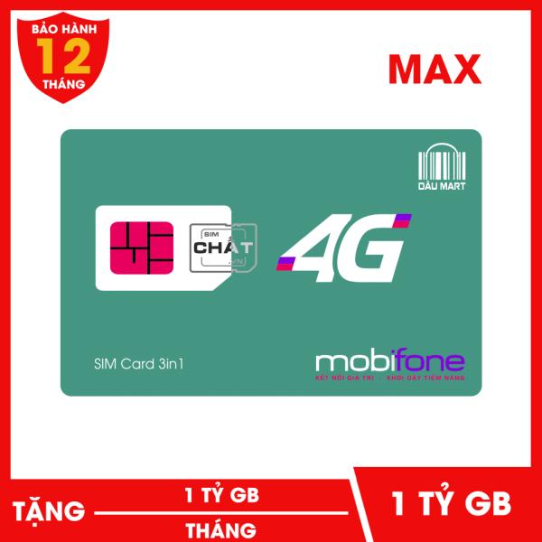 [Nhập ELJAN11 giảm 10%, tối đa 200k, đơn từ 99k]SIM 4G MAX DATA Mobifone 1 Tỷ GB/Tháng F120WF | Dùng 4G Thả Ga