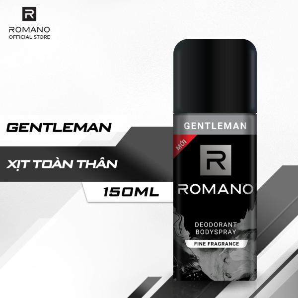Xịt khử mùi toàn thân Romano Gentleman 150ml