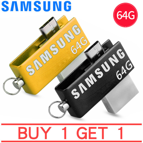 Giá [Mua 1 tặng 1]USB OTG SAMSUNG Ultra 64GB Dual Drive m3.0