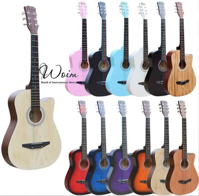 Đàn Guitar Acoustic Gỗ Dáng Khuyết Full Màu
