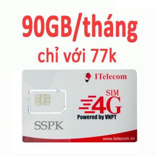 SIM 4G ITELECOM XÀI SÓNG VINA sim 4g sim itelecom sim data 3gb mỗi ngày - - free gọi nội mạng thumbnail