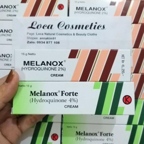 [AUTH] Melanox Hydroquinone 2%, 4% (15g)- Kem hỗ trợ giảm thâm nám, tàn nhang