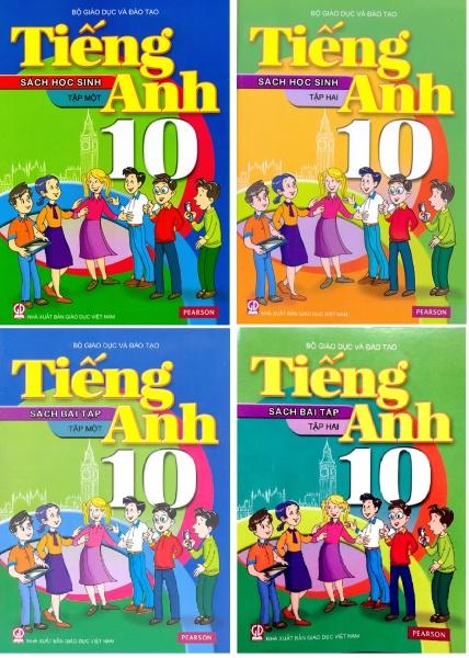 Sách - Tiếng Anh lớp 10 - trọn bộ 4 quyển (không kèm đĩa và mã học online)
