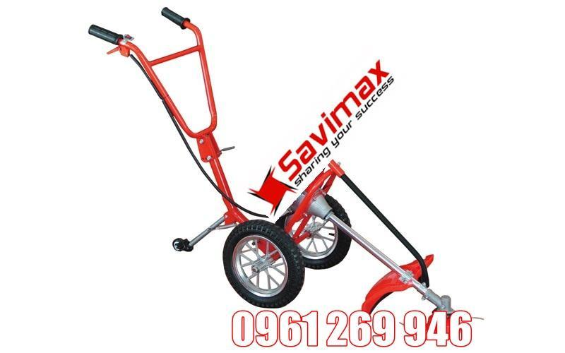 Khung ráp lắp máy cắt cỏ đẩy tay có bánh xe di chuyển