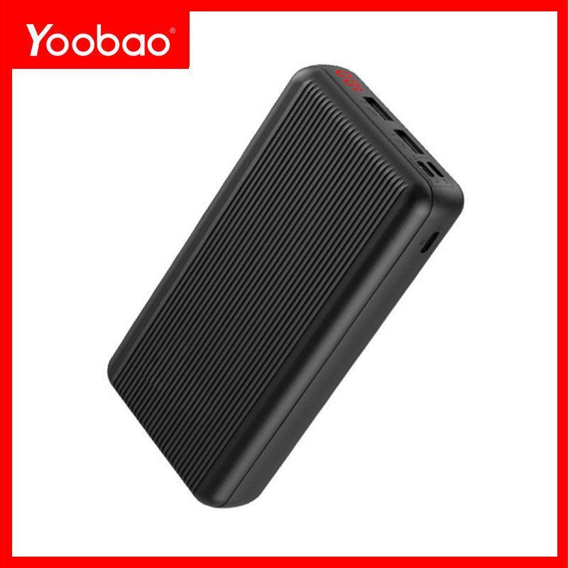 Pin Sạc dự phòng YOOBAO P20D 20000mAh Slim; Ba đầu vào/ Hai đầu ra/ LED hiển thị phần trăm pin
