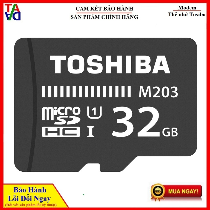 Thẻ nhớ MicroSDHC Toshiba M203 UHS-I U1 32GB 100MB/s (Đen) - Hàng