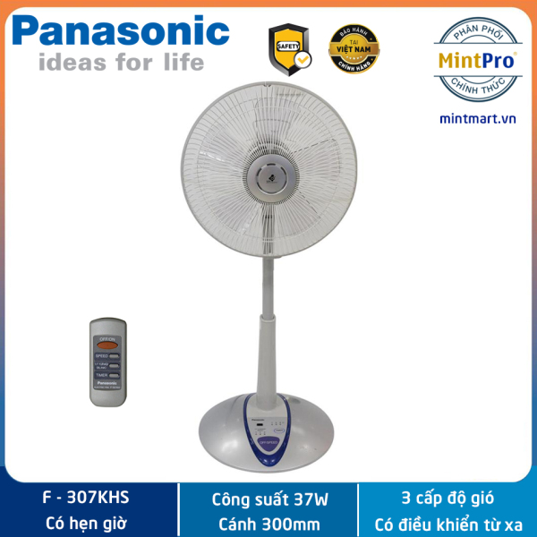Quạt đứng Panasonic F-307KHS Công suất 37W Màu Bạc - Hàng chính hãng - Sản xuất tại Malaysia