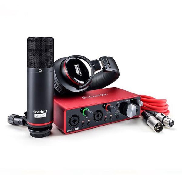 Bảng giá Bộ Kit thu âm Combo Phòng Thu (Micro Condenser Scarlett CM25 MKIII, Tai Nghe Kiểm Âm Scarlett HP60 MKIII, Soundcard Scarlett 2I2 Gen 3) | Focusrite Scarlett 2i2 Studio Phong Vũ