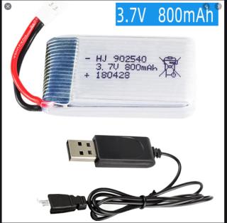 Pin và sạc 3.7v 800mah Pin kèm sạc Lipo có mạch bảo vệ đồ chơi máy bay thumbnail