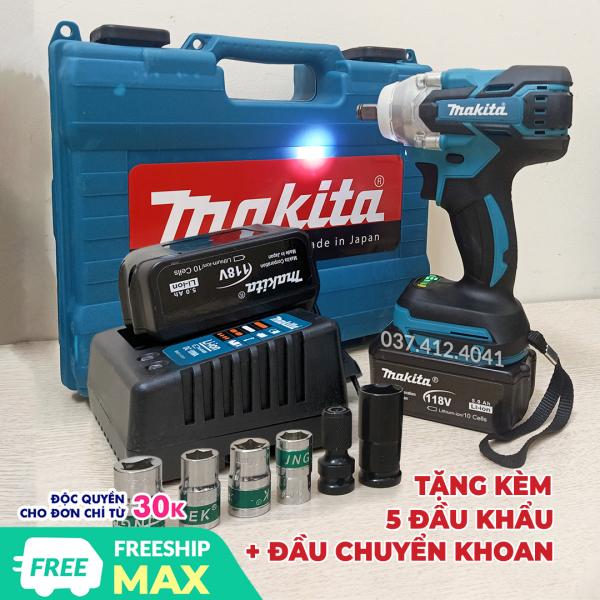 [Tặng 6 phụ kiện] Máy siết bulong Makita 118v , máy bắt vít dùng pin Makita DTS141 88V - Máy vặn ốc mở ốc nồi xe tay ga1