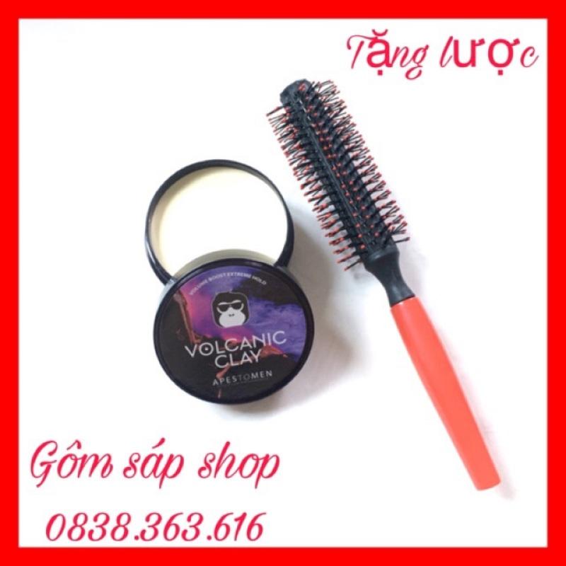 [TẶNG LƯỢC]Sáp Vuốt Tóc VOLCALIC CLAY dành cho Nam/Nữ 100ml ( BẢN ĐEN)wax vuốt tóc/ keo vuốt tóc/ sap vuot toc nhập khẩu