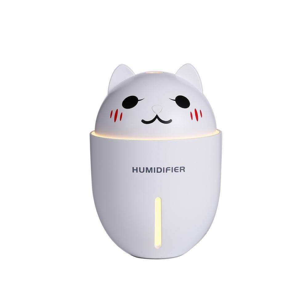 Bảng giá Phun sương tạo độ ẩm xông tinh dầu hình mèo (Tích hợp đèn LED và quạt mini)