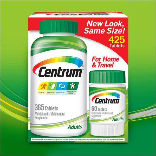 Vitamin tổng hợp Centrum USA dành cho người lớn dưới 50 tuổi, 425 viên