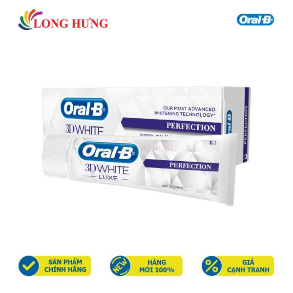 Kem đánh răng Oral-B 3D White Luxe Perfection - Hàng nhập khẩu - Giúp kháng khuẩn, chống sâu răng và ngừa ê buốt, làm trắng răng thích hợp cả với răng nướu nhạy cảm
