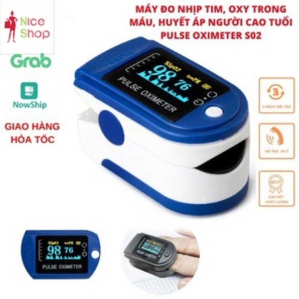 Nơi bán [HCM]Tặng pin - M&aacutey đo nồng độ oxy trong m&aacuteu pulse oximeter phù hợp cho mọi gia đ&igravenh - Giao nhanh Hồ Chí Minh