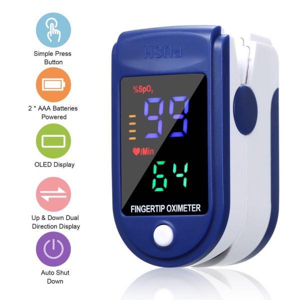 Thiết bị chăm sóc sức khỏe thông minh đo độ bão hòa nồng độ oxy sp02