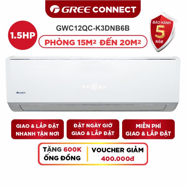 Bảng giá Máy LạnhGREE CONNECT Cao Cấp Inverter Wifi Thông Minh - Phù Hợp Phòng 15m2 Đến 20m2