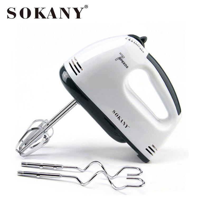 Máy đánh trứng cầm tay SOKANY 180W - 7 tốc độ tùy chỉnh, máy cao cấp không gỉ, vận hành êm ái [ BẢO HÀNH UY TÍN 1 NĂM ]