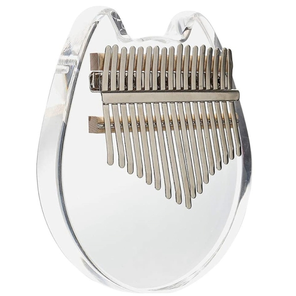 17 Keys Kalimba Thumb Piano Transparent Acrylic with Carry Bag,Musical Gifts for Kids Adult Beginners