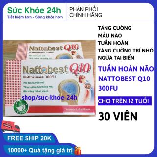 Viên uống Hoạt Huyết Nattobest Q10 Hỗ trợ lưu thông máu, cải thiện trí nhớ (hộp 30 viên) , sức khỏe 24h thumbnail