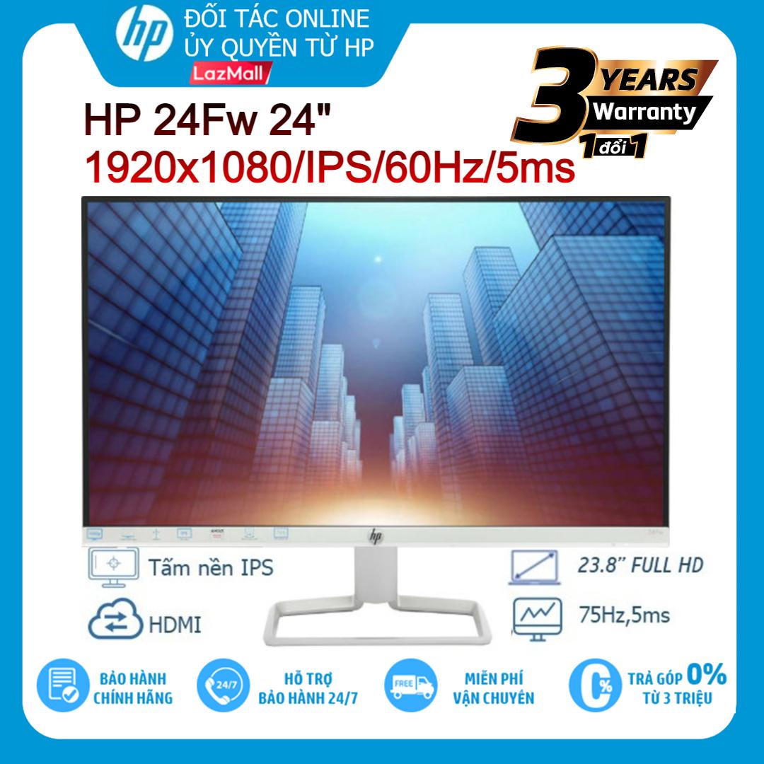 """Màn hình máy tính LCD HP 24fw 24""""FHD 1920x1080/IPS/60Hz/5ms - Hàng chính hãng new 100%"""