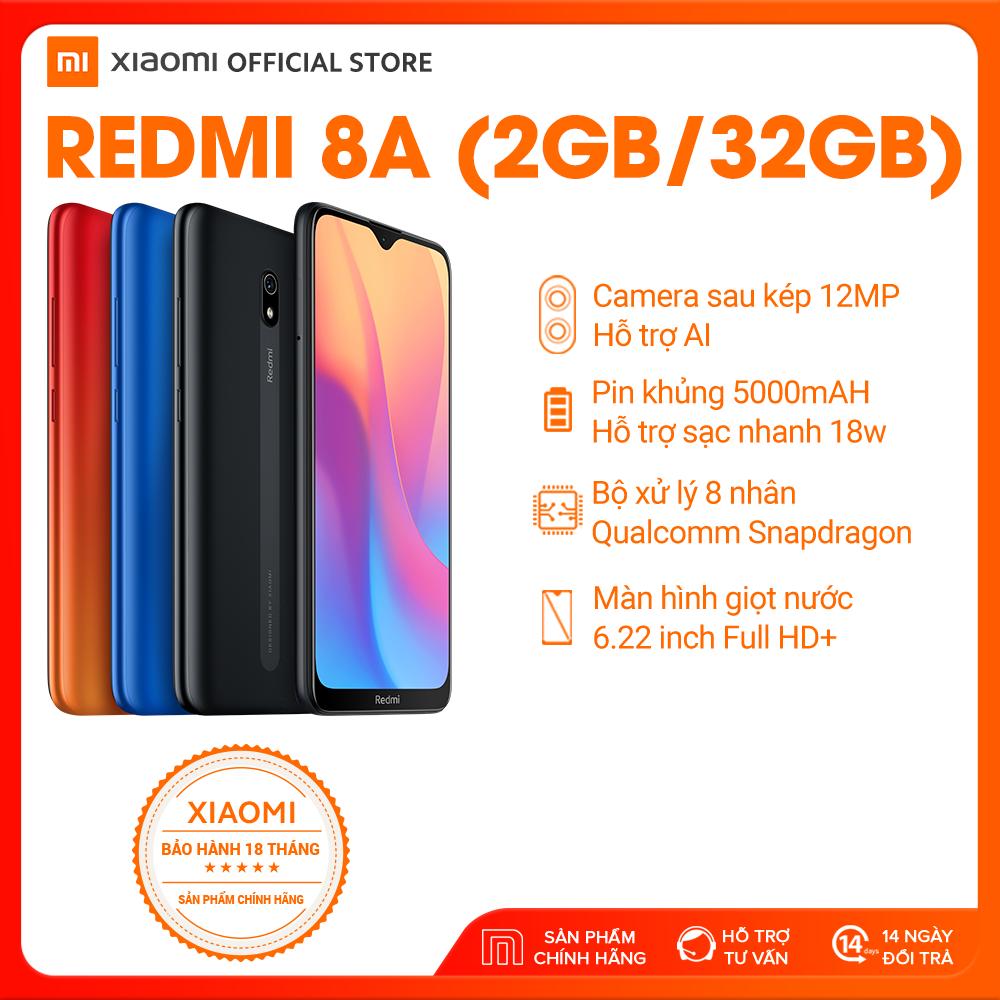 [XIAOMI OFFICIAL] Điện thoại REDMI 8A 32GB, màu Đen/Xanh/Đỏ, Hàng chính hãng,Bảo hành điện tử 18 tháng