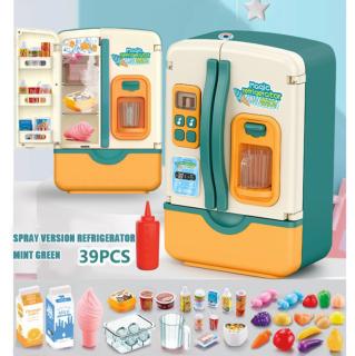 Đồ chơi trẻ em Tủ lạnh Đồ chơi trẻ em Mô phỏng Tủ lạnh Đồ chơi nhà bếp Giả vờ chơi Bộ đồ chơi Trẻ em Đồ chơi Nhà cô gái Quà tặng thumbnail