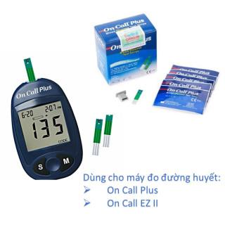 DATE 2022 Que thử đường huyết OnCall Plus (25 que) thumbnail