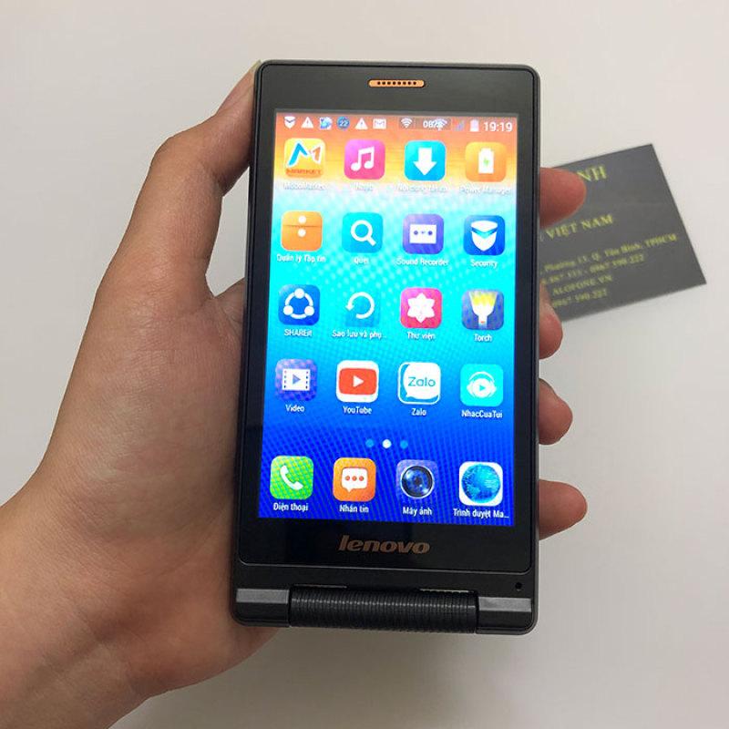 Điện thoại nắp gập cảm ứng Lenovo A588T 2 sim bộ nhớ 4GB ram 512MB chạy Android 4.4.2