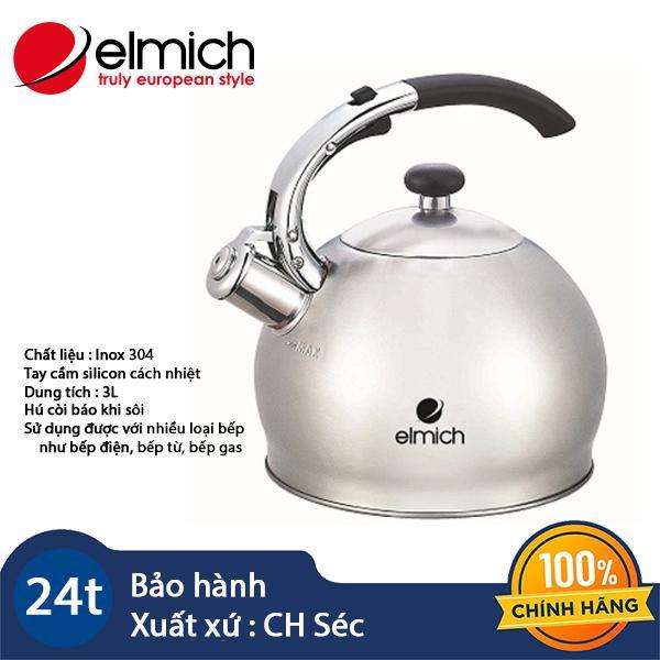 Ấm đun nước bằng inox 304 Elmich 3L EL3373 hàng chính hãng, bảo hành 24 tháng